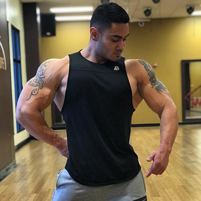 Men Bodybuilding   Tank     Top   Gyms Fitness Workout Cotton Sleeveless Shirt Crossfit Brand Clothing Stringer Singlet Male Casual Vest