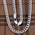 "FREE SHIPPING! wholesale 5pcs/lot 925 Sterling Silver 7mm 20"" chain Necklace"