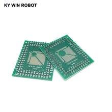 5 pces qfp tqfp lqfp fqfp 32 44 64 80 100 lqf smd volta para dip adaptador placa conversor pcb 0.5/0.8mm