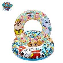 Paw Patrol anillo de natación Lifebuoy agua niños Juego de verano debe seguridad Everest amarillo y azul figura de acción modelo de juego de regalo