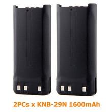 2PCs KNB-29N KNB-53N 1600mAh Ni-MH Battery for TK-2207 TK-2306 TK2206 TK-2212 Radio TK-2207G TK-3207G walkie talkie