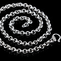 Silver Men 925 pure silver thai silver fashion coarse 23.4 51cm 6mm scfv coarse silver necklace
