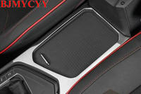 BJMYCYY 1PCS Stainless steel decorative box car central glass panel For Volkswagen Tiguan 2017 Tiguan L
