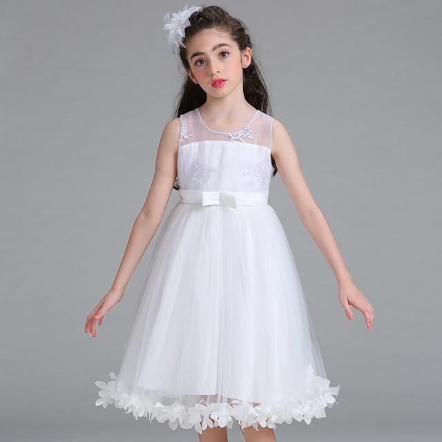 7017dc3a2c4e3 4-15 Ans Enfants Vêtements Fleur Fille Robes Princesse Costume Tutu Robe  Enfant Filles Cérémonie