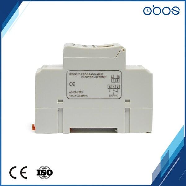 3 pièces prix coupures de courant préférentielles mémoire numérique 12 V minuterie interrupteur avec 16 fois marche/arrêt par jour plage de réglage de l'heure 1 min-168 H