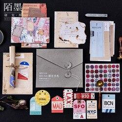 Mohamm No. 55 Retro Do Vintage Jornal Diário Decorativo Bala Adesivos Carta Papel Set Cartão Postal Scrapbooking Paper Craft Statione
