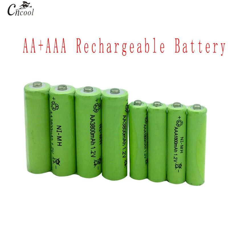 20 Pcs AA 3800mAh Ni-MH Rechargeable Batteries + 20 Pcs AAA 1800mAh Rechargeable Batteries