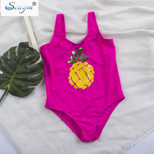 1e77c565129 Seagm children swimwear for girls brazilian infantil kids swimsuits one  piece girls swimwear gold Sequins pineapple swimsuit 21