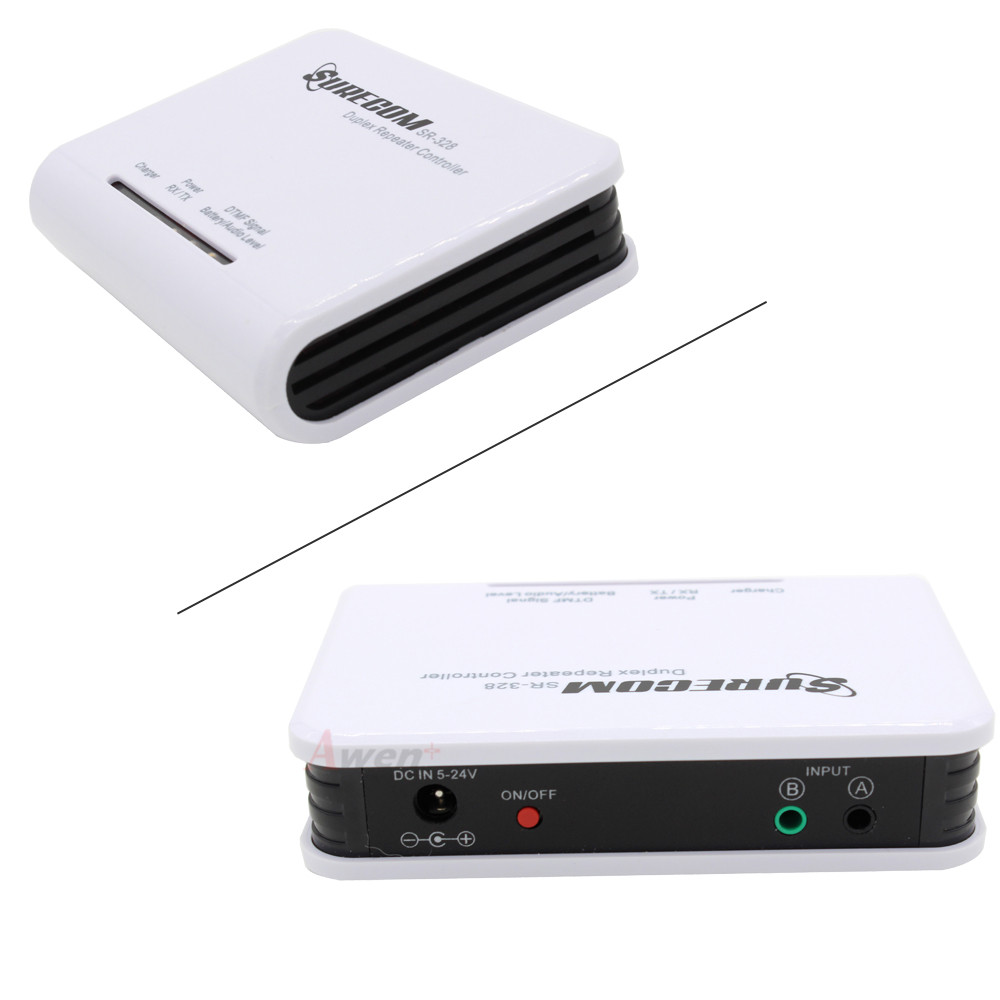 US $65 03 30% OFF|SURECOM SR 328 Two Way Radio Duplex Repeater Controller  with 2PCS Connect Cable for BaoFeng UV 5R UV B5 UV 82 TYT TH UV8000D-in