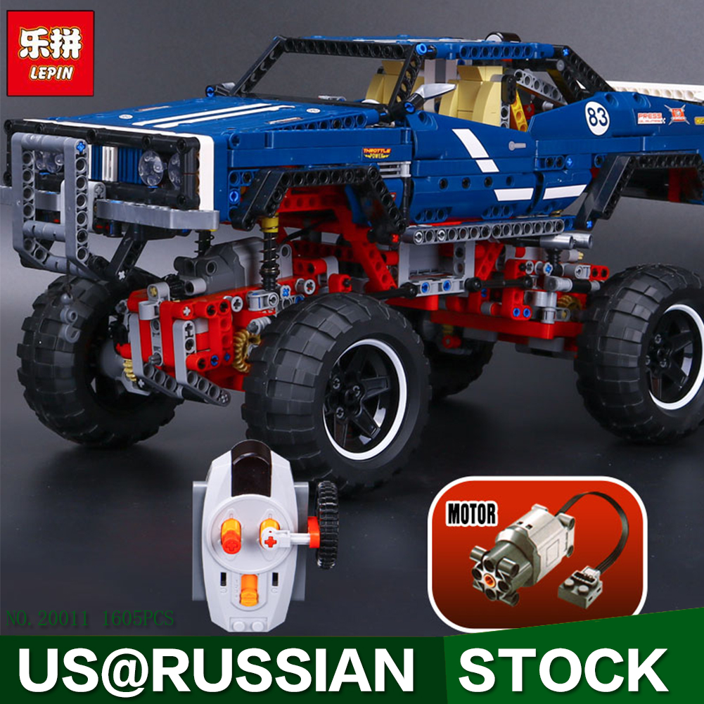 Lepin 20011 Technic 4x4 Crawler Exclusive Edition building bricks blocks Pickup Toys for children boys Game Model RC Car Gift lepin 22001 imperial flagship building bricks blocks toys for children boys game model car gift compatible with bela decool10210