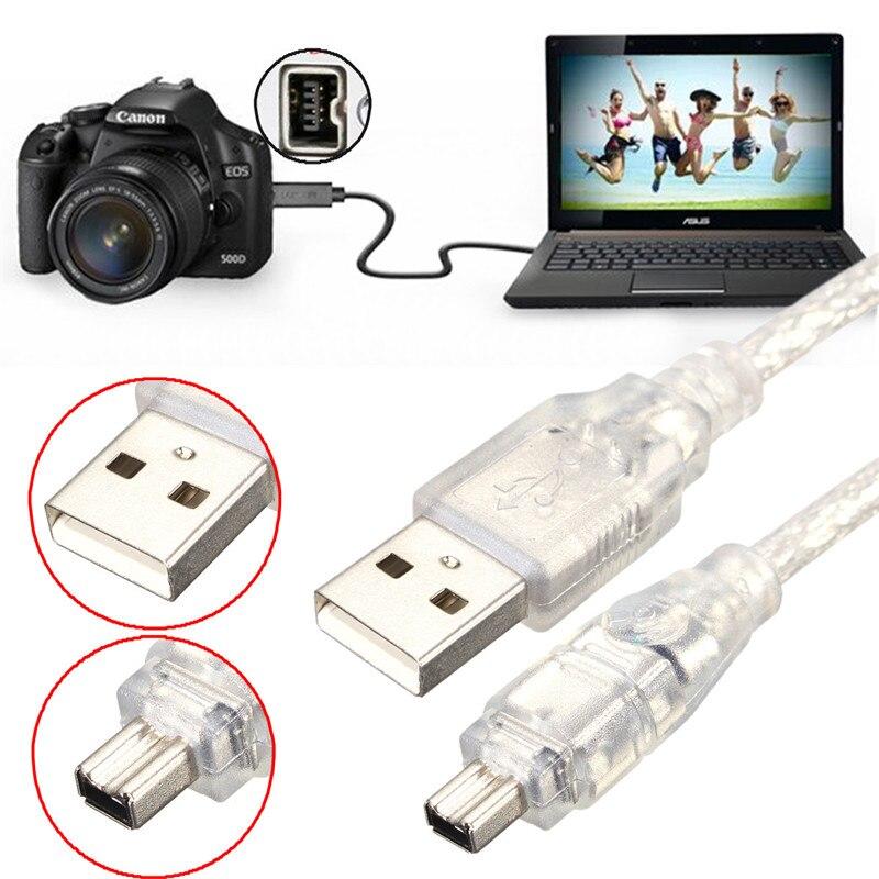 High Speed 1,2 Mt 4FT USB 2.0 Stecker auf 4 Pin Feuer draht IEEE ...