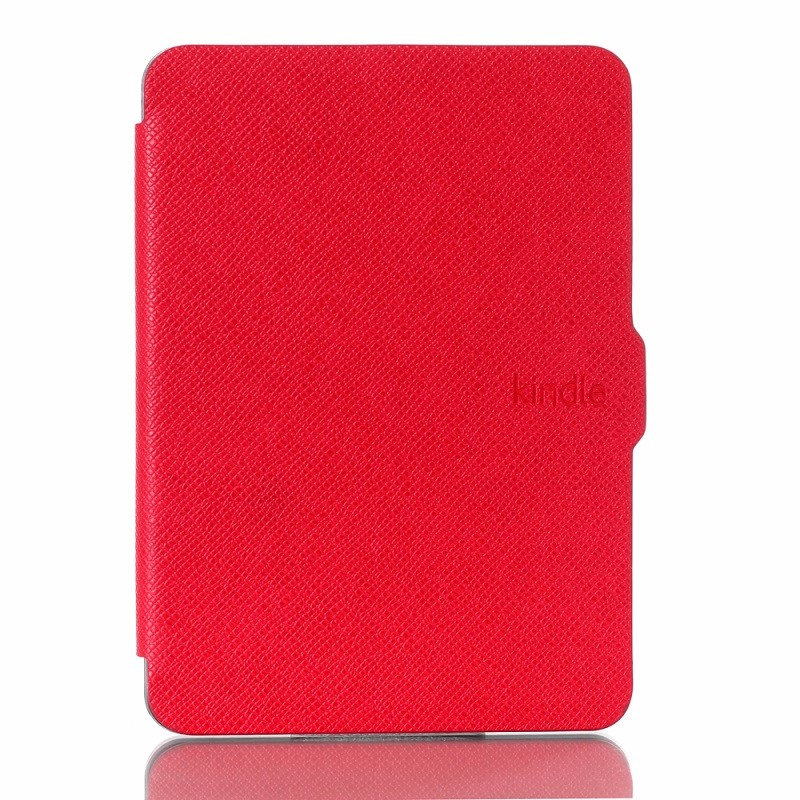 red pu leather ebook case for amazon kindle voyage ereader cases