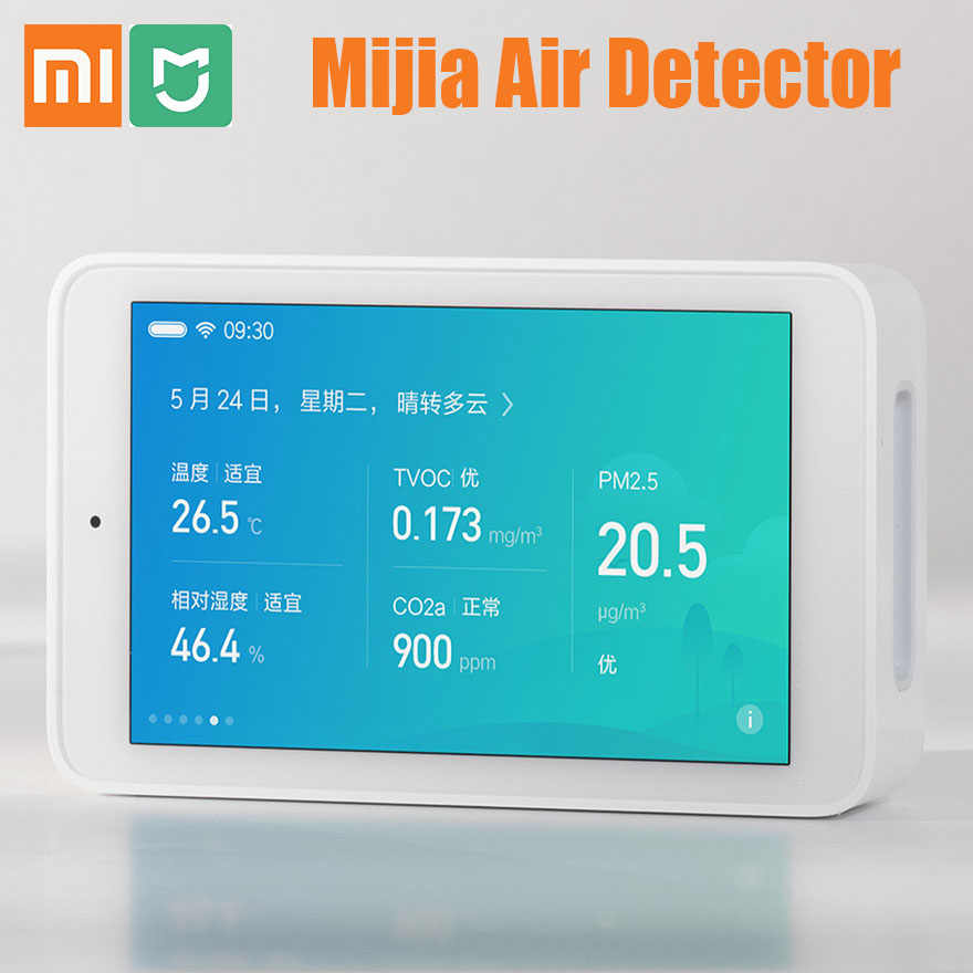 Xiaomi Mijia Air Detector High-Precision Sensing 3.97Inch Touchscreen USB Interface Remote PM2.5 monitor For Home Office