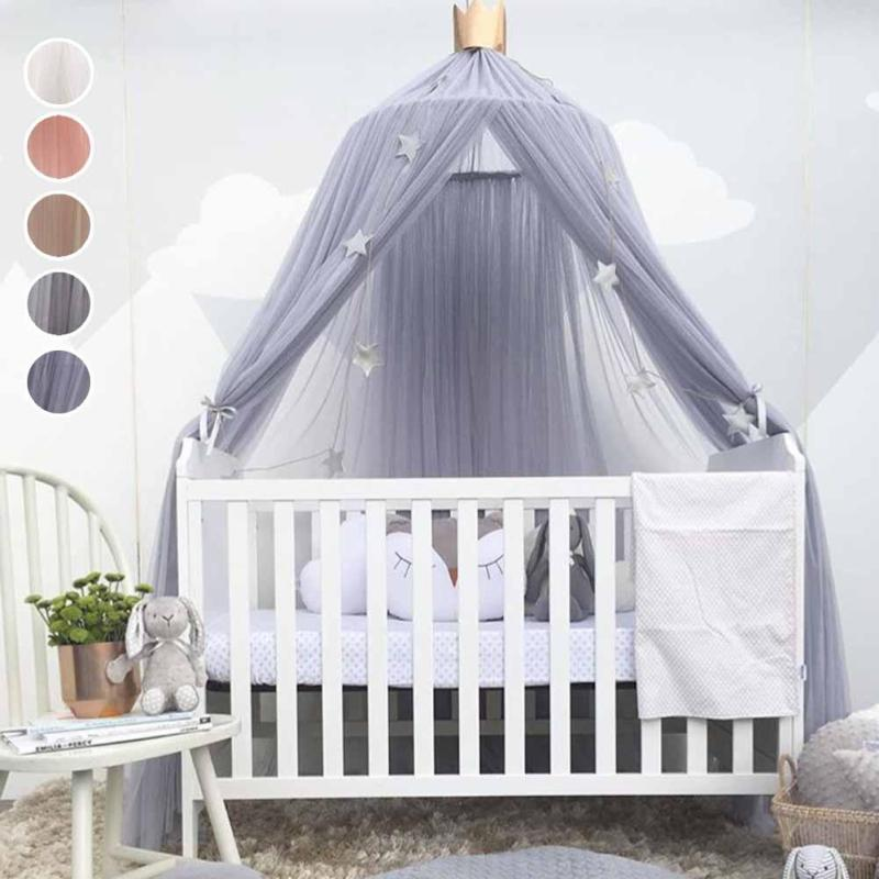 Lovely baby Crib Sets Romantic hung dome mosquito net Princess Baby Bedding Baby living room ornament R2-16H baby bed curtain kamimi children room decoration crib netting baby tent cotton hung dome baby mosquito net photography props