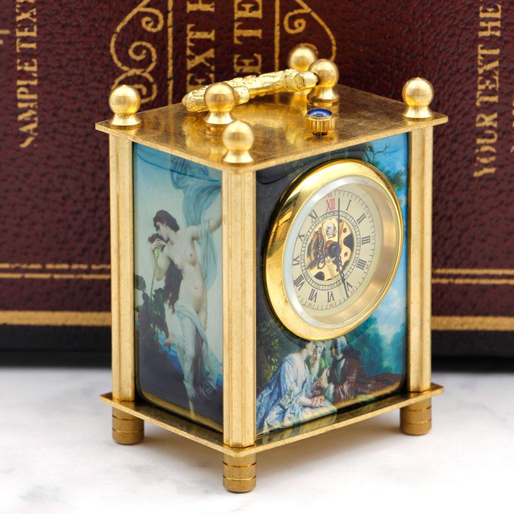 Luxus Retro Römischen Ziffern Gold Skeleton Mechanische Taschenuhr Mit Fob Kette Männer Frauen Pjx055