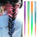 1Pc Straight Ombre Clip In Hair Extensions 20inch 2 Tones Women Synthetic Hairpiece Natural Hair Extension