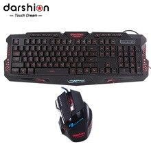 Russian font b keyboard b font mouse combo Backlit LED font b gaming b font led