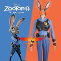 2016 Movie Zootopia/Zootropolis Officer Rabbit Judy Hopps Police Uniform Cosplay Costume with Rabbbit Ear and Wig+Free Wig Cap