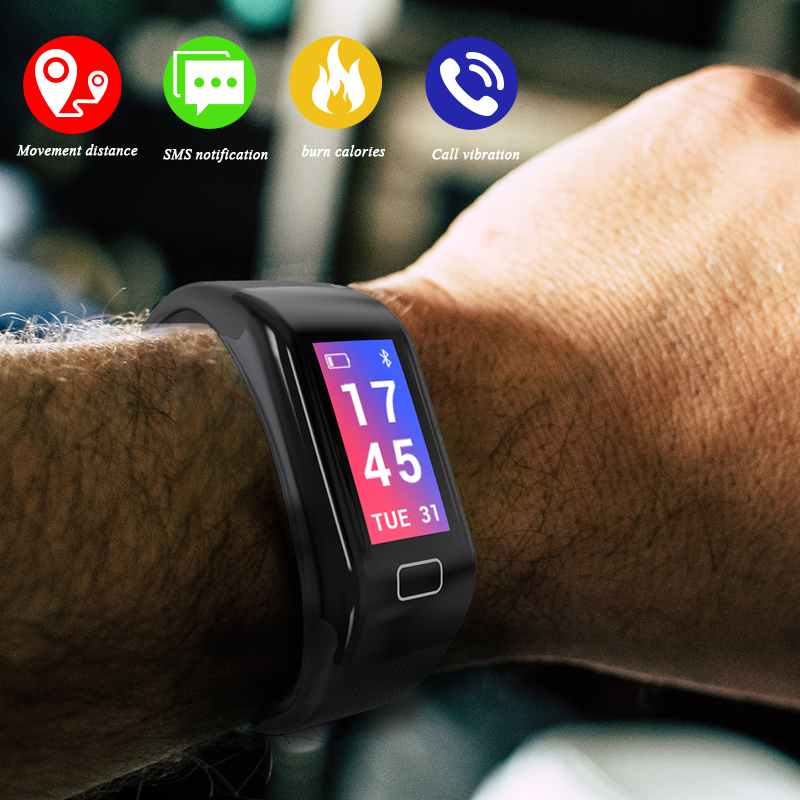 New Smart Watch Bluetooth Pedometer Heart Rate Smart Watches Men Woman Call Reminder Wrist Smartwatch for Android IOS di03 smart watch ip67 heart rate monitor bluetooth 3 0 4 0 call sms reminder pedometer smart wrist watch for ios android