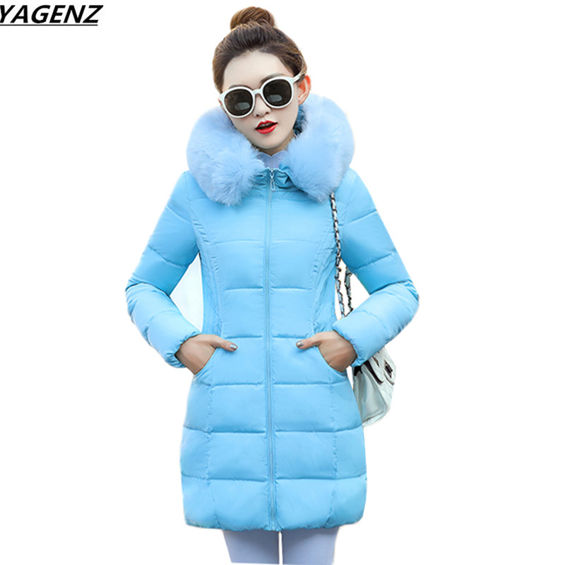 Winter Jacket 2017 New Hooded Fur Collar Women Parkas Thicken Warm Down Cotton Jacket Casual Tops Plus Size 3XL Female Outwear qazxsw new korean women cotton jackets hooded long parkas big fur collar casual plus size winter jacket super warm outwear hb375