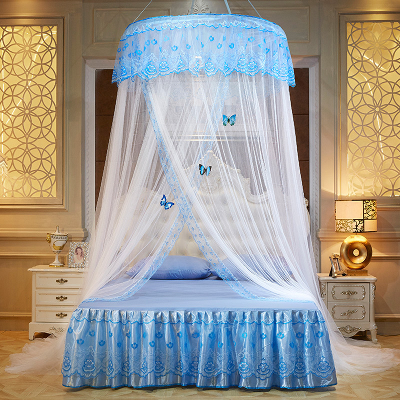 Princess Hanging Round Lace Canopy Bed Netting Comfy ...