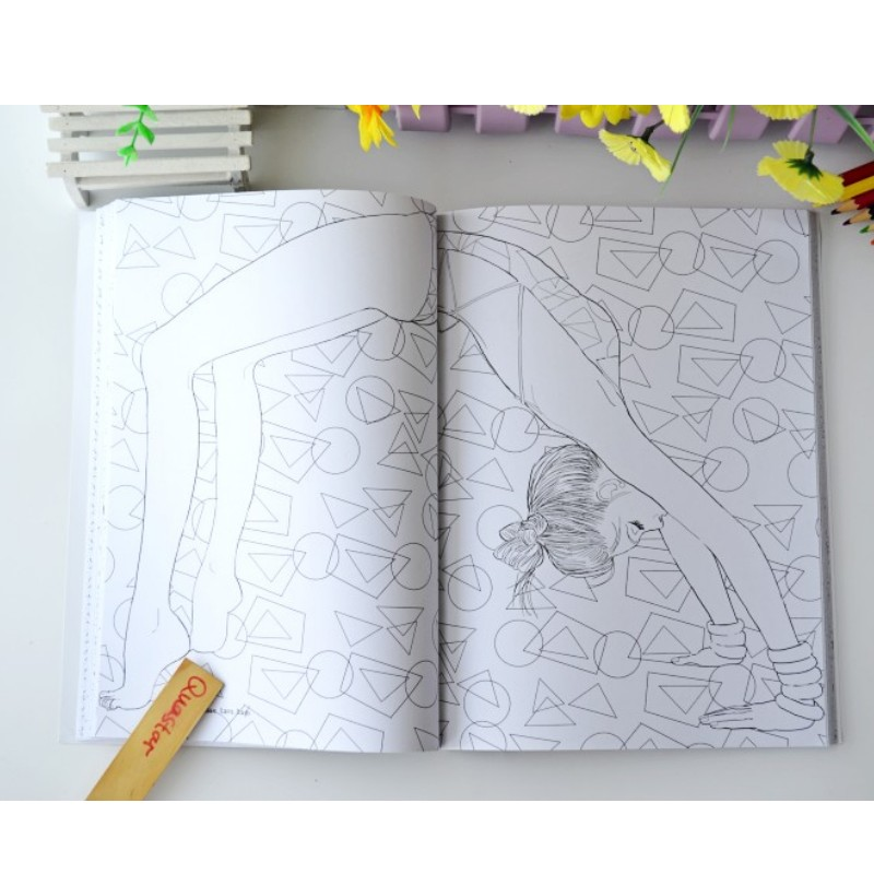 Image 5 - Fashion Girl coloring book for adults antistress Relieve Stress Graffiti Painting Drawing books libros de pintar para adultos-in Books from Office & School Supplies