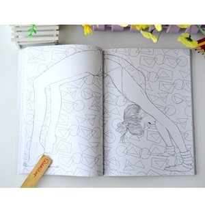 Image 5 - Fashion Girl coloring book for adults antistress Relieve Stress Graffiti Painting Drawing books libros de pintar para adultos