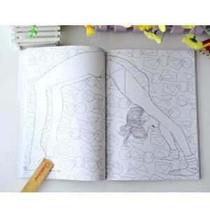 Image 5 - Moda Kız boyama kitabı yetişkinler için anti stres Rahatlatmak Stres Grafiti Boyama Çizim kitapları libros de pintar para adultos