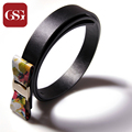GSG Skinny Leather Belt with Bowknot Decoration for Lady Belts Women Printing Waistband for Skirt Black Thin Waist Belt Female