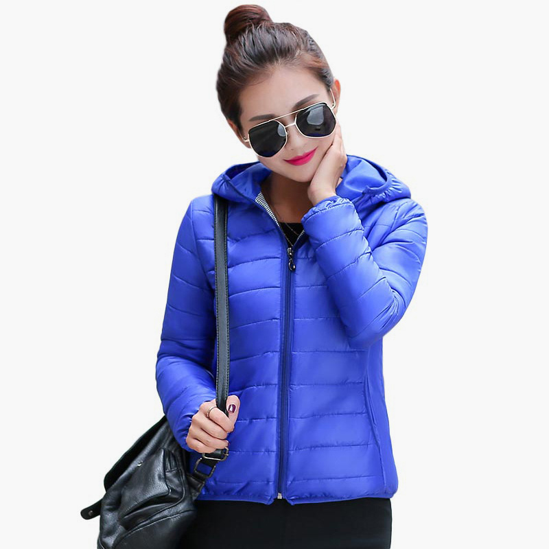 Solid Color Zipper Hooded Women Spring Jacket 2018 New Fashion Autumn Winter Slim Warm Ladies Coats Plus Size Outerwear 3