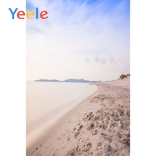 Yeele Beach Footprint View Seaside Vacation Wedding Portrait Photography Backdrops Sky Photographic Backgrounds For Photo Studio цена и фото