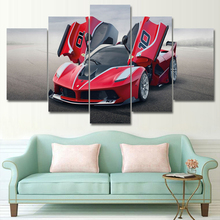 Modular HD Print Artwork Modern Comalo red Sports  Car Poster Home Decor Wall Art 5 Pieces Pictures Wall art Canvas Painting sports art art e875