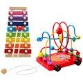 Дети бусы вокруг шарика раннего детства игрушки развития ребенка хорошие интеллектуальные игрушки
