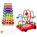 Children beads around the ball early childhood toy baby development good intellectual toys