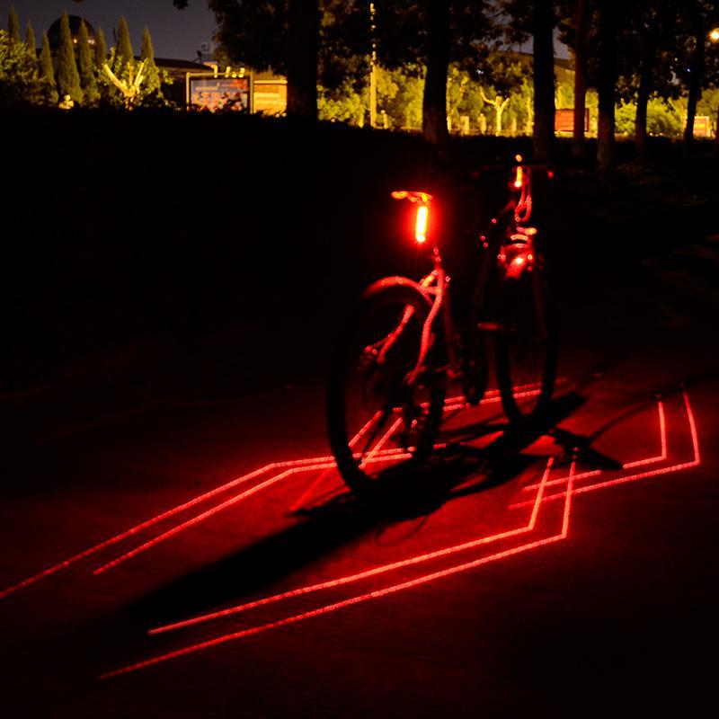 цена на USB Rechargeable 5 LED+ 1 Laser Bicycle Taillight IPX5 Waterproof Safety Warning Lamp Bike Cycling Rear Lamp Bicycle Light
