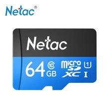 Netac P500 sınıf 10 64G mikro SDXC TF Flash bellek kartı veri depolama kadar yüksek hız 80 MB/s
