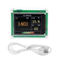 Digital CO2 Meter Carbon Dioxide Detector Air Tester Monitor Indoor/Outdoor CO2 Temperature Humidity Gas Analyze Je19 19