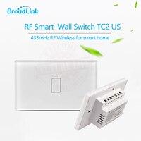Broadlink TC2 US Standard 1 gang smart home Automation mobile APP Remote wireless control lamp light Switch by broadlink rm pro
