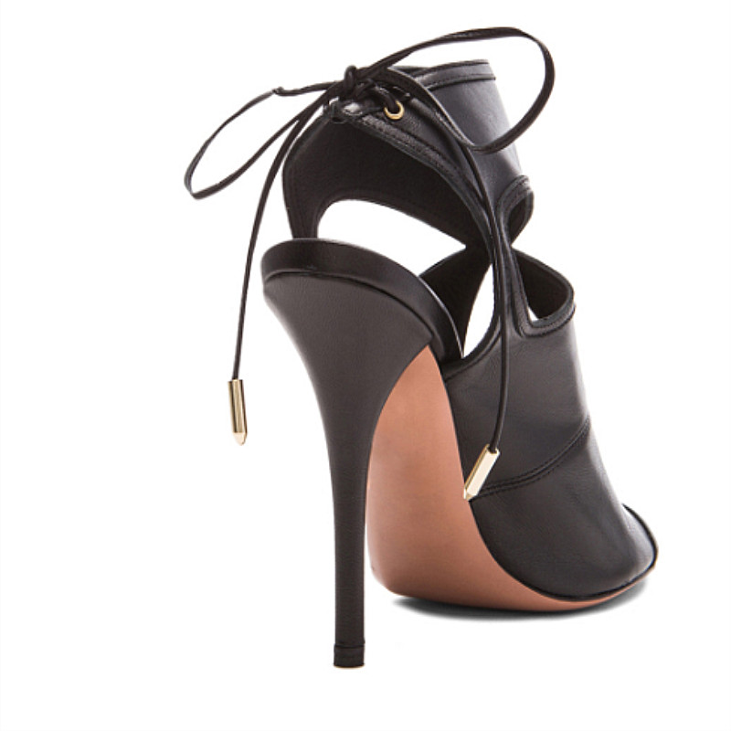 Peep Bottes À Talon Stiletto Cut out 2019 Spartiates Slingback Sandales Retour Toe As Summer Femmes Haut Lacets Design De D'été Mode Chaussures Picture vn8y0wONm