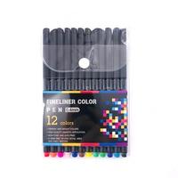 12/24/36 farben 0 4mm Fineliner Stifte Feine Ziehen Punkt Art Marker Stift Tinte Auf Wasserbasis design multicolours Grafik Zeichnung liefert-in Kunst-Marker aus Büro- und Schulmaterial bei