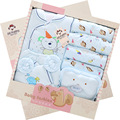 Autumn & winter newborn baby clothing gift set box 100% cotton fashion character 14 pieces glothing suit for 0-1T baby