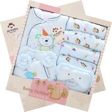 Осень и зима новорожденный одежда подарочный комплект коробке 100% хлопка мода характер 14 шт. glothing костюм для 0 — 1 т ребенка