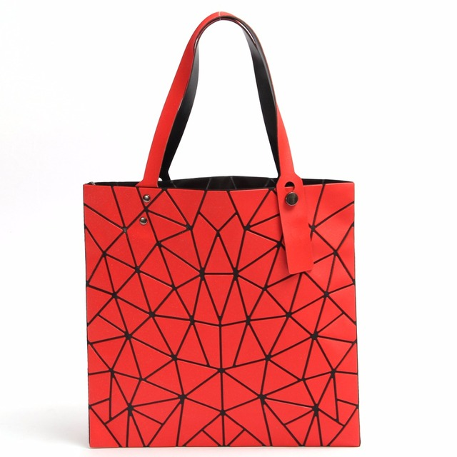 d811fc2fa8cf 2017 New Fashion Japan Style Laser Baobao Bag Geometric Fold Over Diamond  Luminous Women Brand Handbags Bag Bao Bao Issey Sac