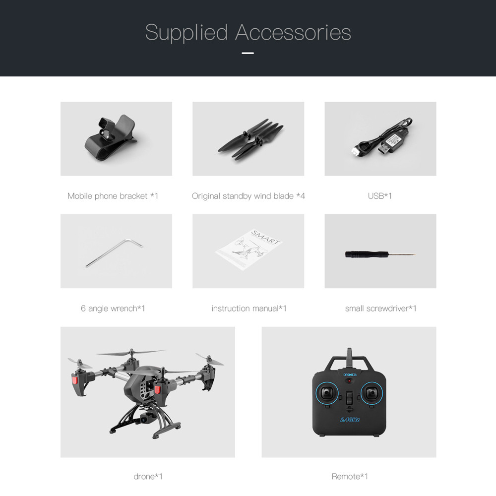 Aititude Hold 2.4G WiFi RC Quadcopter 6-Axis Gyro 2MP HD FPV Drone Helicopter FOR   new arrival 3