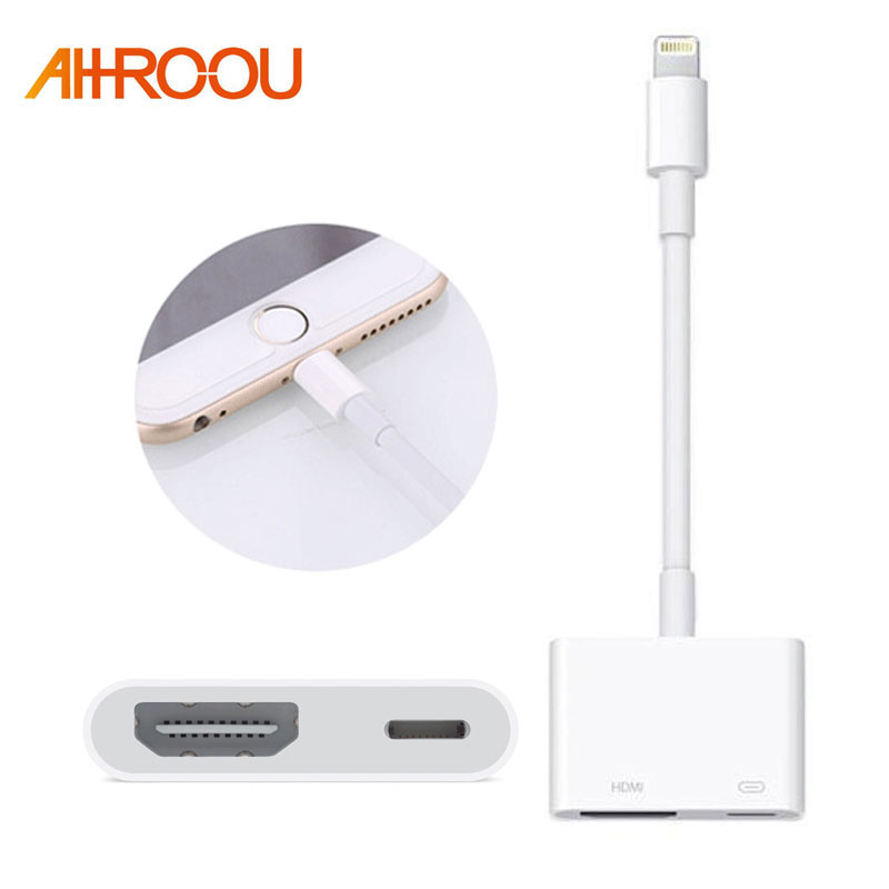 NEW Light*ning To HDMI Digital AV TV Cable Adapter For iPad iPhone X 8 7 6 Plus