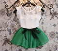 BibiCola moda muchachas del niño del bebé que arropan verano arco 2 unids niñas verano ropa set kids fashion suit set chándal conjunto