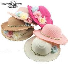BING YUAN HAO XUAN Father-Child Summer Hat for Women Straw Baby Beach Travel Sun Panama