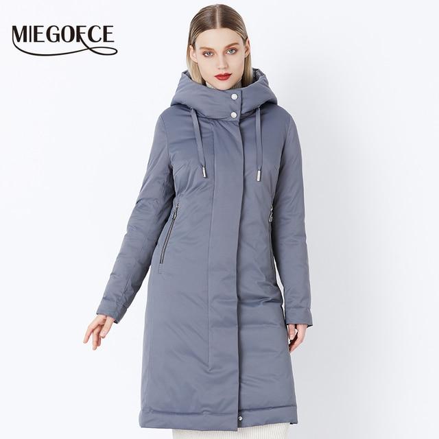 2018 MIEGOFCE Зимняя женская коллекция новая мода стильное модное пальто зима био-пух коллекция просторная теплая женская куртка зимнее утепленное пальто