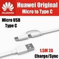 AP55S TPE 1.5 M 2A официальный оригинал 100% для huawei micro usb для типа с 3.1 кабель двойной интерфейс honor 8, v8, p9 плюс, mate 9, примечание 8