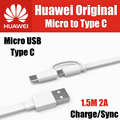 AP55S TPE 1.5M 2A offical original 100% for huawei micro usb to type-c 3.1 cable dual interface honor 8,v8,p9 plus,mate 9,note 8